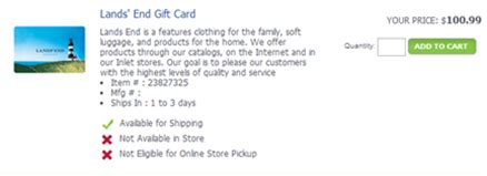 Landsend Gift Card - extreme savings at lowes home depot sears frequent miler