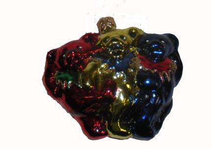 grateful dead dancing bear chorus blown glass ornament woodstock trading company