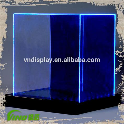 transparent led display box acrylic lighted display case