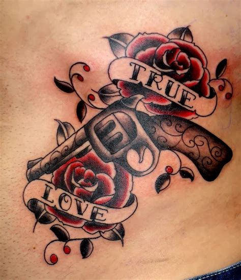 tattoo old school revolver world of guns n roses tattoo