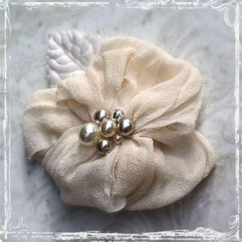Wedding Hair Flowers Nz by Combination Hair Flower Or Brooch Silk Fabric Pearl And