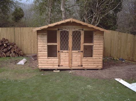 Chalet Sheds by Chalet With Leaded Glass Doors Sheds N Chalets