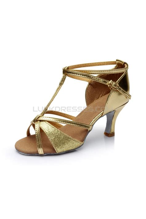 Dasi Satin 7cm Gold s gold leatherette satin heels sandals salsa with t buckle shoes d602006