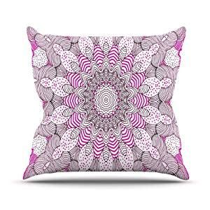 Pink Outdoor Pillows by Kess Inhouse Monika Strigel Quot Dots And Stripes