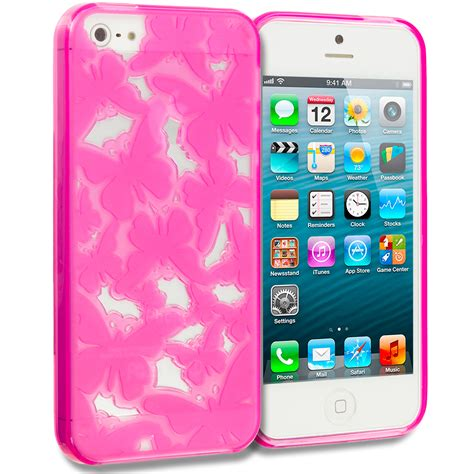 For Iphone 5 5s 5g Soft Bird tpu 3d color butterfly flower rubber skin cover for apple iphone 5 5g 5s ebay