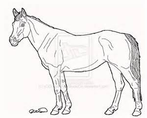 quarter horse standing by dragonfyrestudio on deviantart