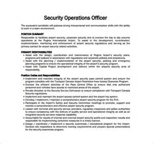 Responsibilities Of A Security Officer by 12 Security Officer Description Templates Free Sle Exle Format Free