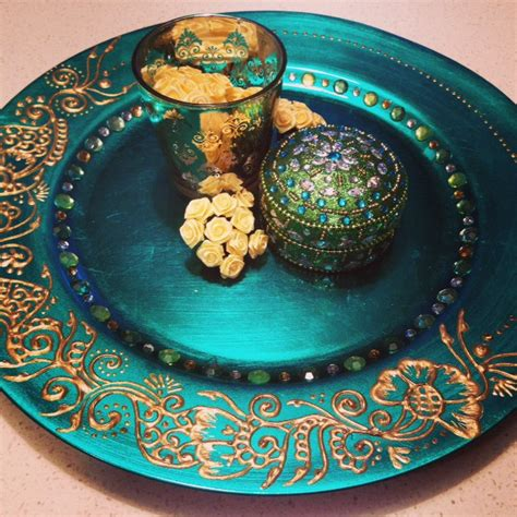 henna design plate greengold mehndi plate set henna plate for weddings