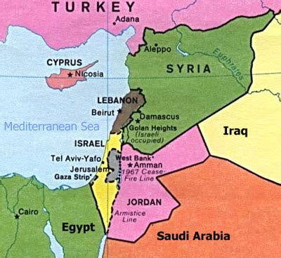 middle east map lebanon syria maps informed comment
