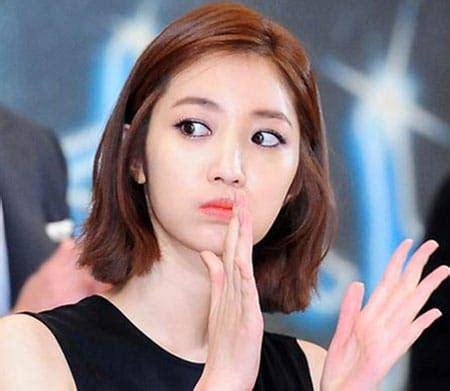 trend model rambut pendek panjang wanita korea