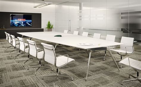 Large White Meeting Table Meeting Furniture Boardroom Furniture Boardroom Tables Solutions 4 Office