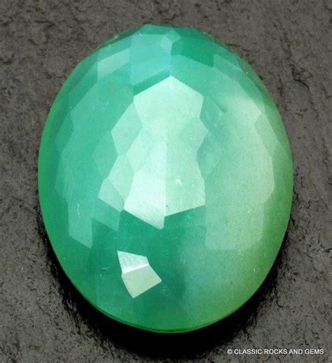 Chroom Chalcedony mtorolite chrome chalcedony faceted gemstone 23 5 ct