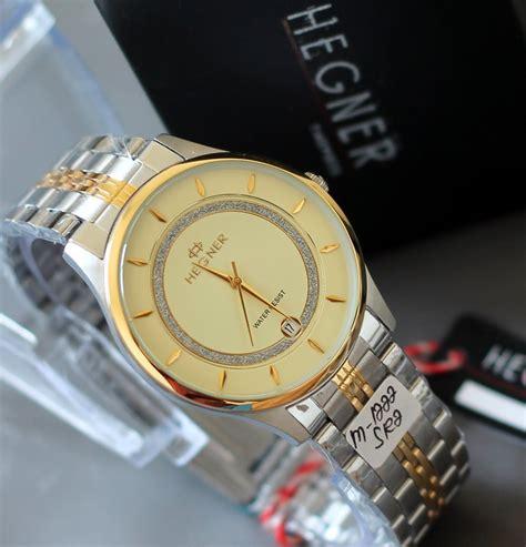 Hegner 1121 Gold White Original hegner jam tangan hegner wanita pria garansi