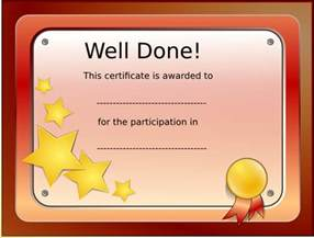 Free Templates For Certificates Of Participation by Participation Certificate Clip At Clker Vector