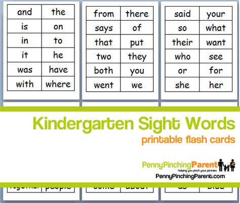 printable flash cards words sight word flash card template images