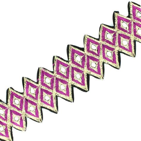 decke 50 cm abhängen guipure india abha violet ma mercerie