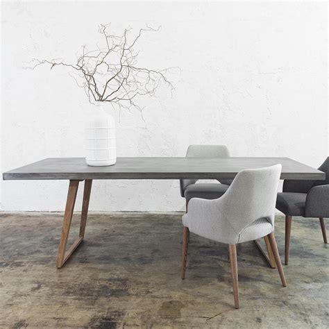 concrete dining table set concrete dining table 2200 x 900 grey living by design
