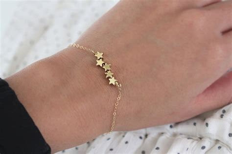 Tiny Puffy For Pinterest | star bracelet tiny puffy stars gold or silver by junghwa