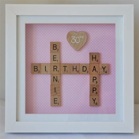 is ie a scrabble word 30th birthday personalised scrabble frame