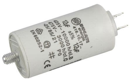 ducati energia capacitor uk 4 16 10 17 64 ducati energia 12μf polypropylene capacitor pp 450v ac 177 5 tolerance stud mount