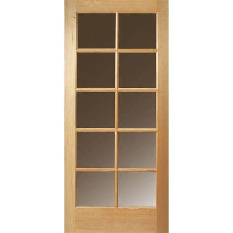 Door Lites Exterior Doors Masonite 24 In X 80 In 10 Lite Unfinished Fir Front Door Slab 87193 The Home Depot