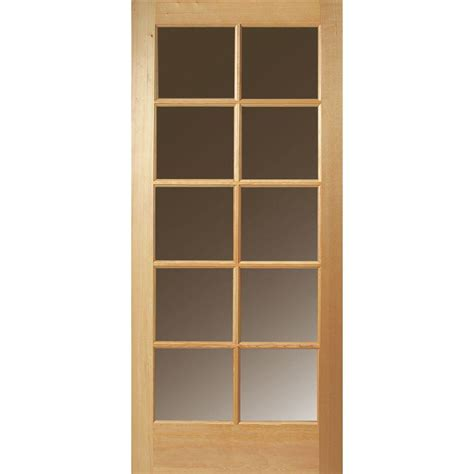 Fir Exterior Doors Masonite 36 In X 80 In 10 Lite Unfinished Fir Front Door Slab 82709 The Home Depot
