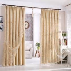 Livingroom Curtains by Beautiful Beige Blackout Polyester Living Room Curtains