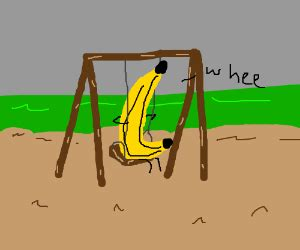 banana swing a banana on a swing