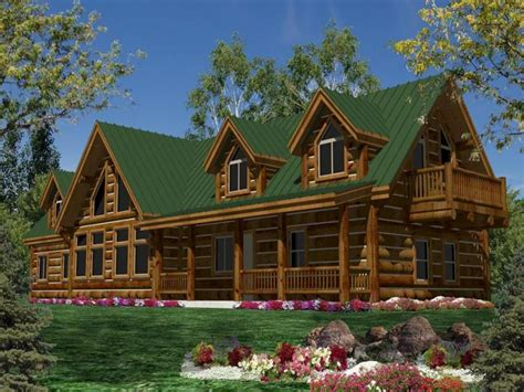Single Story Luxury Mountain Cabin Plans Single Story Log 2 Story Log Home Plans