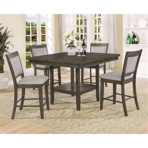 counter height table with upholstered chairs crown fulton counter height table with lazy susan and
