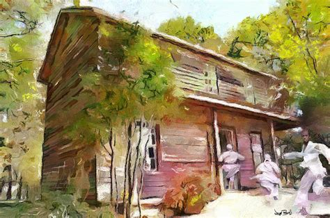 Toms Cabin by Tom S Cabin Painting By Wayne Pascall