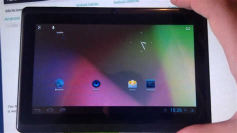 allwinner a13 7 inch tablet running android 4 1 1 jelly doovi