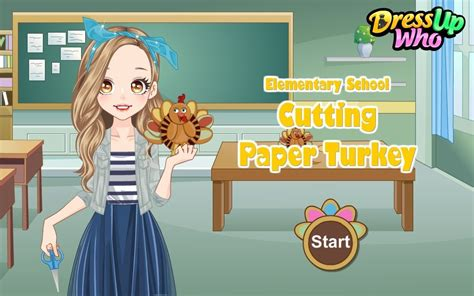 cutting up games paper turkey dress up game