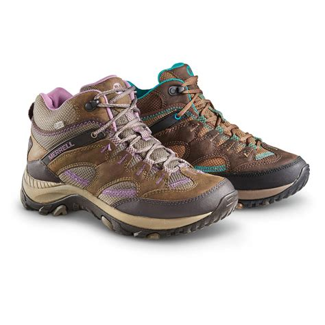 s merrell hiking boots merrell s salida waterproof mid hiking boots