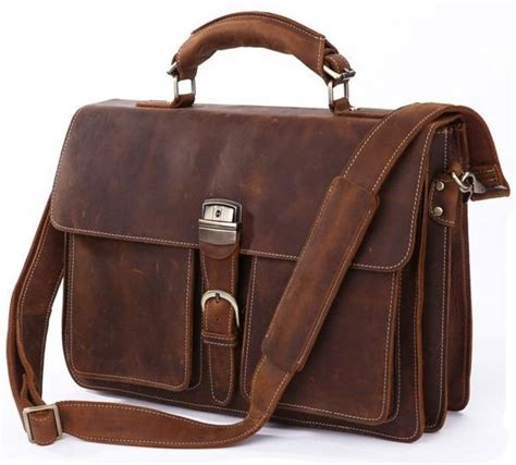 If You Fancy Winning A Vintage Laptop Bag by Italian Leather S Briefcase Laptop Two Gusset Pockets