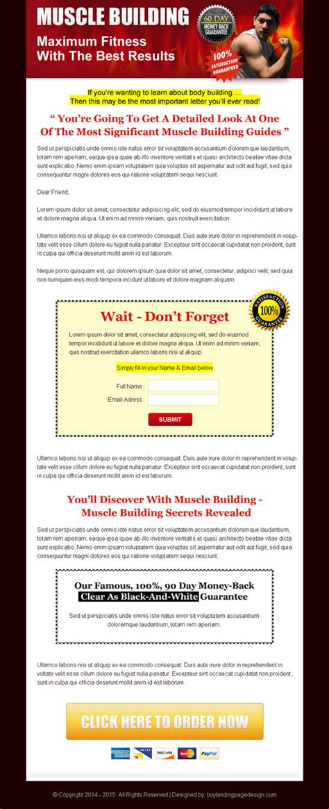 sle page template sales page landing page design to boost your product sales