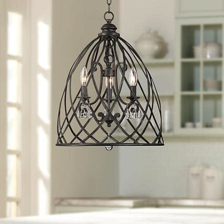 Franklin Iron Works Chandelier Franklin Iron Works Bell Cage 22 Quot High Metal Mini Chandelier Y2303 Ls Plus