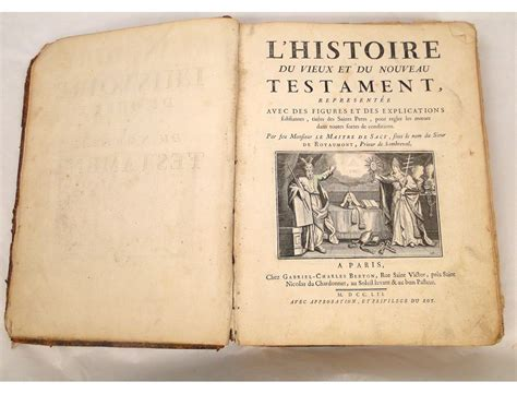 testament books former new testament book le maitre de sacy 1752