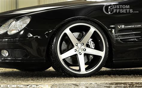 wheel offset 2009 mercedes sl550 flush dropped 1 3