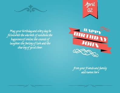 Printable Birthday Cards A4 | free greeting card templates pageprodigy