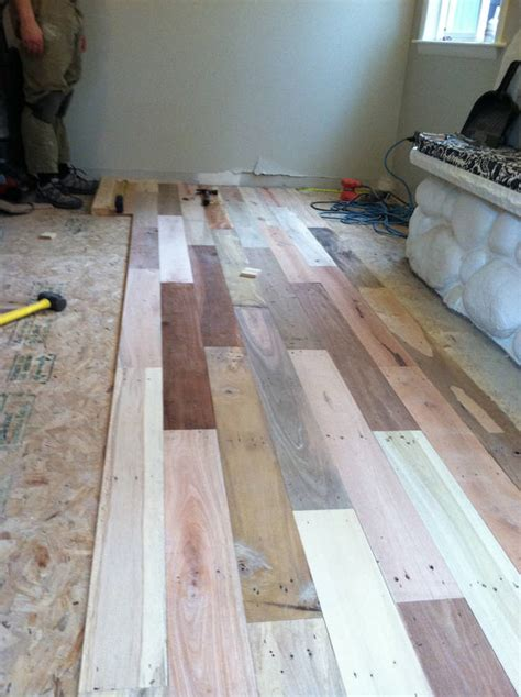hardwood floors made from pallets remodels floor with recycled wood pallets photos