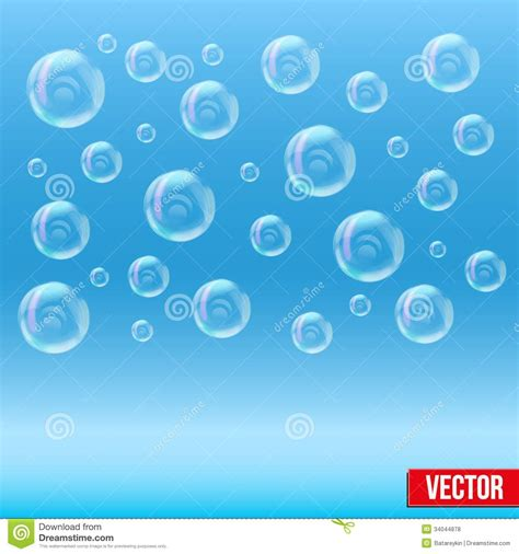 Buble Simple spa aqua simple background with bubbles stock vector image 34044878