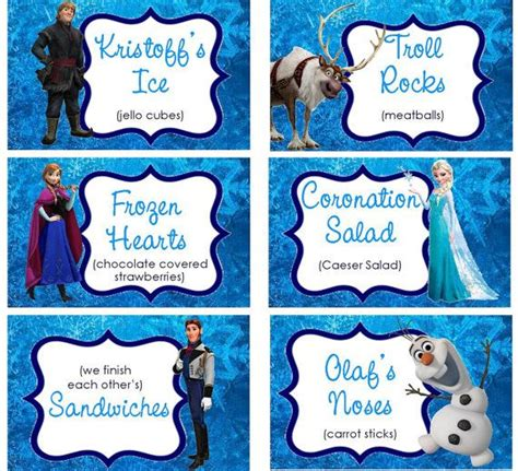 printable frozen menu hey i found this really awesome etsy listing at https