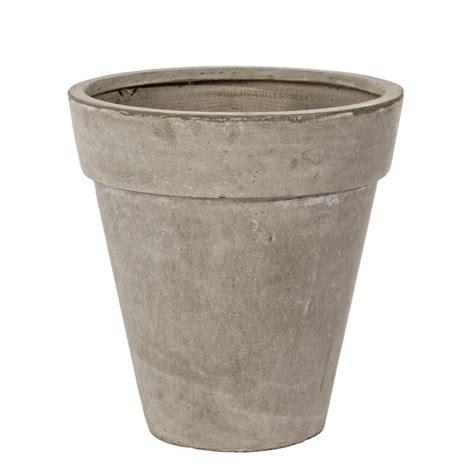 vaso cemento vaso cemento classico sabbia 46h mondobrico giardino