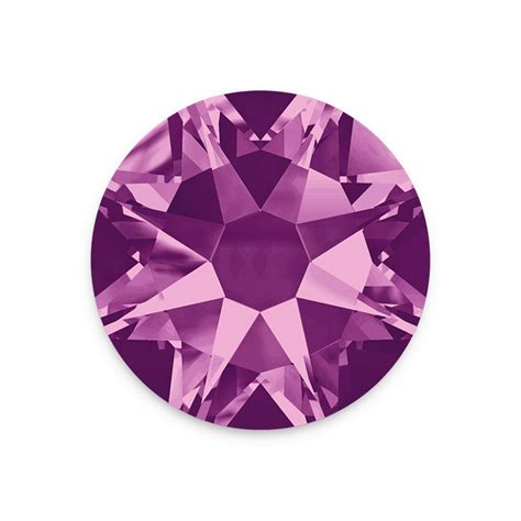 flat back swarovski crystals 2088 3mm ss12 amethyst flat back