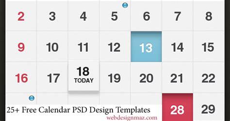 free calendar design templates 25 free calendar psd design templates designmaz