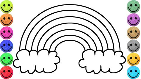 rainbow coloring learn colors with rainbow coloring pages drawing for