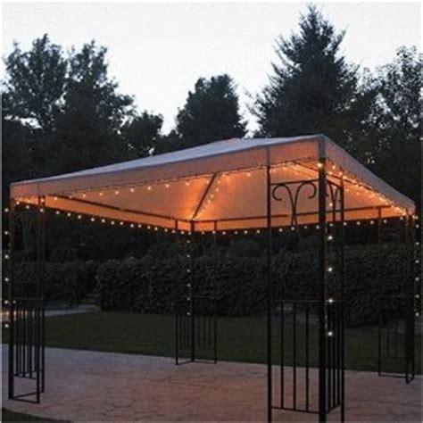 threshold gazebo string lights backyard canopy gazebo ideas