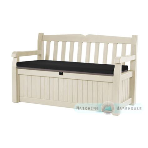 keter bench waterproof bench cushion for keter iceni eden garden