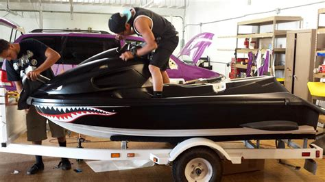 Custom Boat Golf Cart Body Car Interior Design Jet Ski Wrap Templates